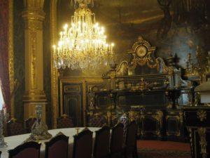 ナポレオン三世の生活が再現されている部屋