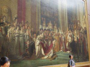 ナポレオンの戴冠式の様子を描いた絵。どでかいです。