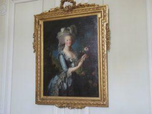 マリーアントワネットの華やかなな感じるのする肖像画です