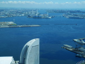 横浜ランドマークタワーの展望台からの景色