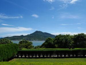旧イギリス領事官から見える淡水河の景観