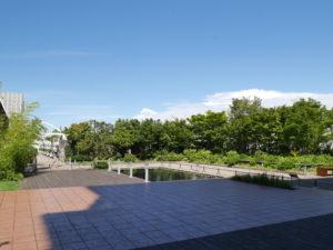 高島屋の屋上の庭園