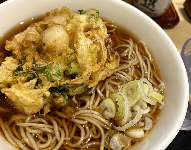 藤沢駅前のホタテかき揚げ蕎麦