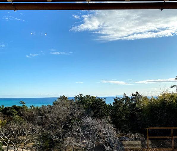 大磯の吉田茂邸から見える相模湾